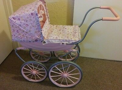 Zape creations Baby Annabell vintage style pink doll pram just beautiful