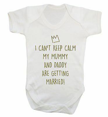 mummy and daddy are getting married baby vest wedding marriage engaged gift 2450