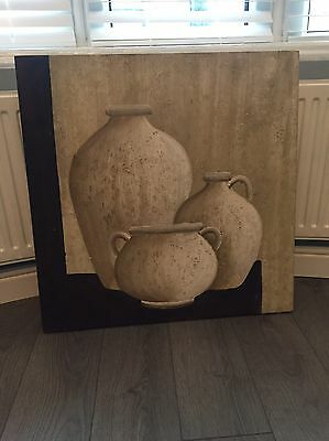 Large Hanging Wall Picture Decorative Pots Beautiful Design