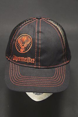 Jagermeister Black Orange Trucker Hat Cap Snap Back Mesh Embroidered One Size