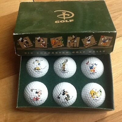 Pinnacle Vintage DISNEY themed golf balls SIX in BOX - NEW