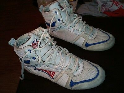 Lonsdale Boxing Contender Low Boxing Boots - White-Blue UK 7