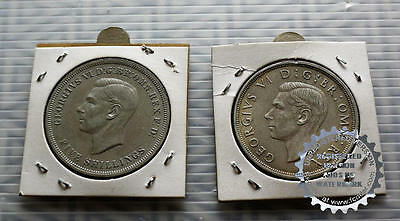 George V Silver Crown coins dated 1937 and 1951