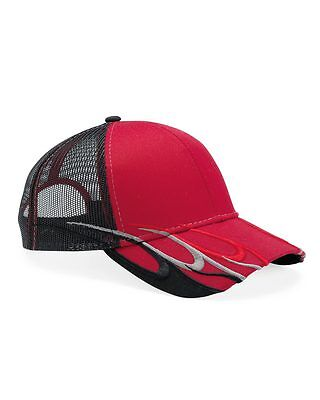 12 New Trucker Hats W Flames Embroidered Free 4U Unstructured Low Profile