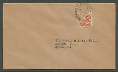 Guernsey 1940 Rare KGV 2d Bisect - St Peter Port CDS (27 Dec First Day of Use)