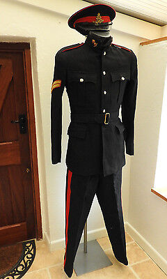 Military WW2 Royal Artillery Corporal Dress Tunic Officers Uniform Hat Cap (4476