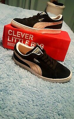 Womens Puma Suede Classic Black and White Trainers Size 4
