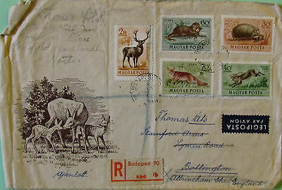 Hungary Postage Stamps Envelope