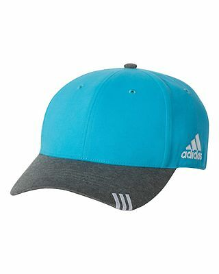 12 New Adidas Collegiate Heather Hats Embroidered 4U Structured Mid Profile
