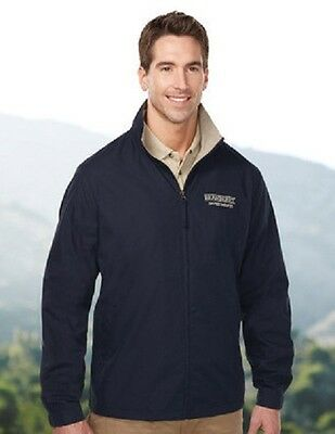 Brand New Lightweight Jacket EmbroideredFree4Ur Business W Back Design &UrName