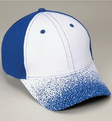 12 Ink Spatter Blitz Cotton Hats Embroidered4ur Company Structured MidProfile