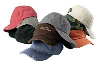 12 New Distressed Hats EmbroideredFree4Ur Company UnstructuredLowProfile