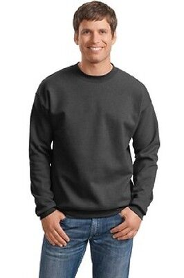 6 Hanes New Crewneck Sweatshirts S-XL EmbroideredFreeW Ur Company Business Name