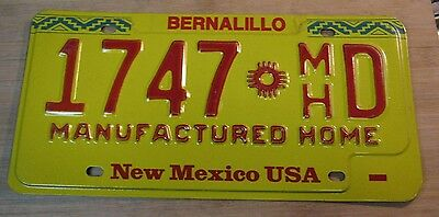 1980s NEW MEXICO LICENSE PLATE EXPIRED 1747 D