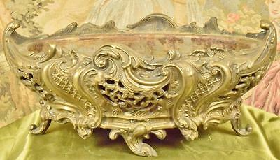 Magnificent Antique French Rococo Style Brass Planter / Jardiniere, 19thC - G300