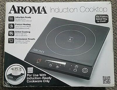 AROMA Black Digital Ceramic Induction Cooktop AID-509 - Portable - Brand NEW!