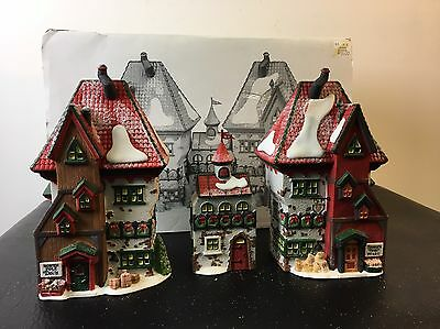 Dept 56 The Heritage Village North Pole Series Dolls And Santa's Bear Works 3Pc