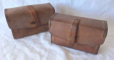 Early Vintage Pair of Eastern Kodak Leather Accessory Cases ~ Model 12-42