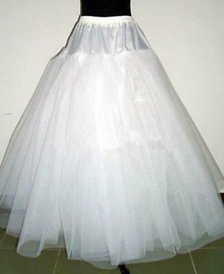 White 3-Layers Tulle Hoopless Wedding Dress Underskirt/Underdress Petticoat YP02