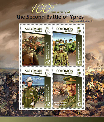 Solomon Island 2015 100th Aniv of the Second Battle of Ypres War WW1 S/S 15111