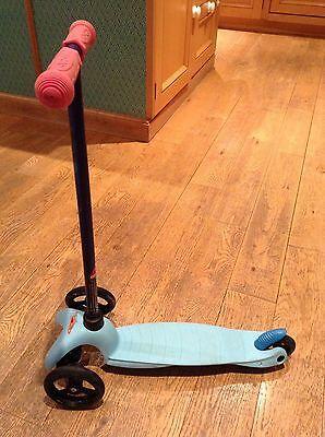 Mini Micro Scooter Turquoise Blue With Pink Handles, Good Condition