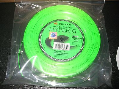 New Solinco Hyper G 16L 1.25mm tennis string reel 200m 660 ft. FREE SHIPPING