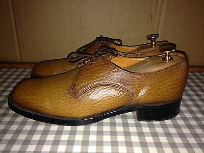SAVILE ROW Handmade England Size 6.5 Men's brown leather lace-up shoes Eur 40