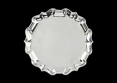 Excellent George II silver waiter / tray London 1732 Robert Abercromby