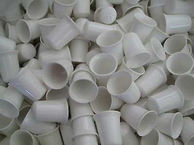 100 White Thimbles 100  White And Gold Thimbles  200 Thimbles All Together