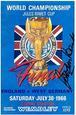 Gordon Banks Hand Signed 6x4 Photo England World Cup Autograph Memorabilia + COA