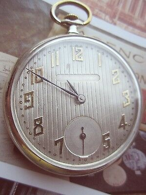 "Antique ""LOCARNO WATCH CO. "" Open face SWISS Pocket Watch"