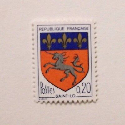 French stamp - Saint Lo 0.20