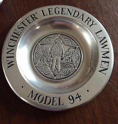 Winchester Legendary Lawmen model 94 pewter plate