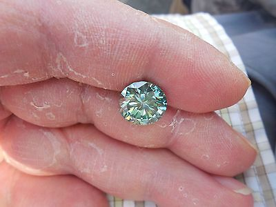 4.19 CT VVS1 10.80 mm Fancy Green Color Round Cut Loose Moissanite