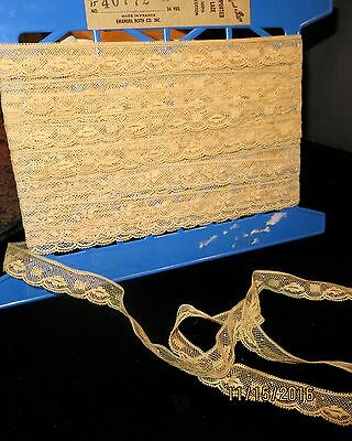 Antique Cotton Lace French Victorian Art Work Doll Scale Lace Quilting 2Yd  #l36