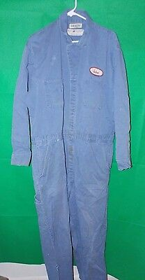 Vng- Blue Mechanics Welders Jumpsuit Coveralls  Men's Grunge John Size 50
