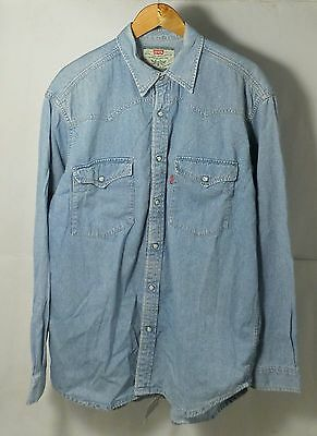 CAMICIA DI JEANS LEVI'S STRAUSS & CO VINTAGE anni 80s  JEANS SHIRT CASUAL levis