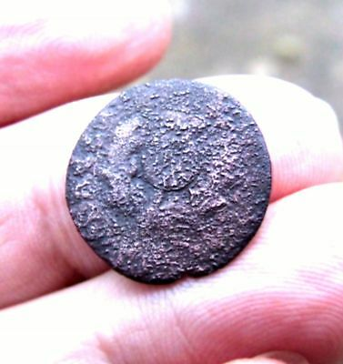 """Old Scottish """"Bodle"""" (2 pence piece) of Charles II c.1680."""