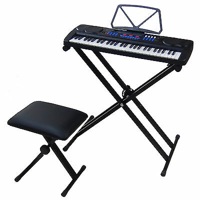 54 Keys Teaching Keyboard MK4500 with USB port Piano Bench and Stand Support X