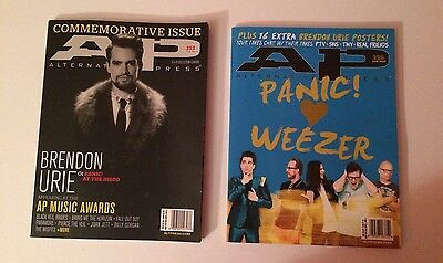 AP ALTERNATIVE PRESS Magazines #313 #335 Panic At The Disco Brendon Urie  Posters