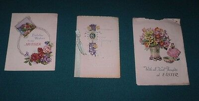 3 Traditional Vintage Birthday/easter Cards