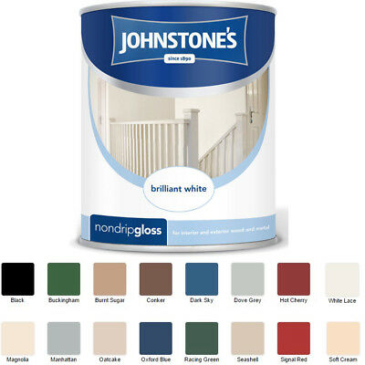 Johnstones Non Drip Gloss 750ml For Wood And Metal Paint In Various Colours