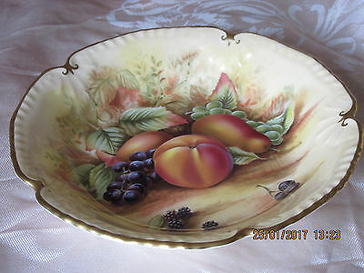 Aynsley Scalloped Dish - Orchard Gold Series -Display Only-Excellent Condition