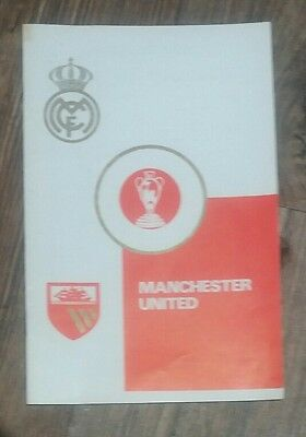 1968 Real Madrid v Manchester United RARE Mis-Print European Cup