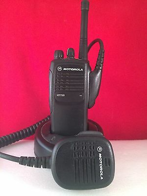 Motorola HT750 VHF 16ch Radio With Charger And Speaker Mic