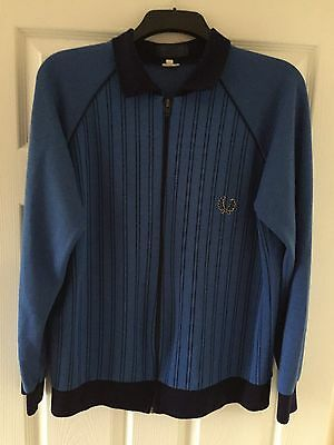 Genuine 80s Vintage Fred Perry Zip Track Top Men's Size M