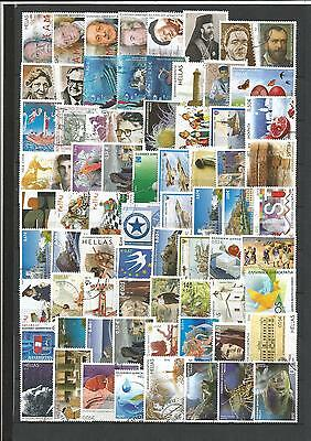 GRIECHENLAND, GREECE.   200  DIFFERENT GREEK STAMPS ( old & new issues) / USED