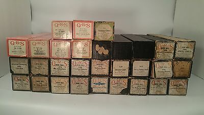 Vintage Player Piano Word Rolls Qrs 30 Rolls Signed