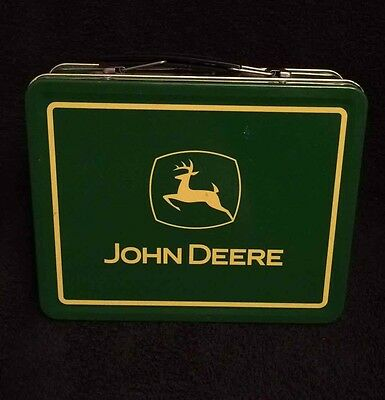 "JOHN DEERE Tin Lunch Box/Pail w/ Handle ""TURTLE TROUBLE"" 22002 Licensed Product"
