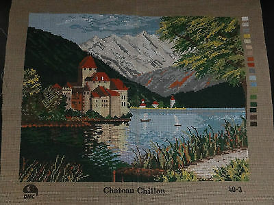 DMC Tapestry Canvas. Chateau Chillon. Brand New.